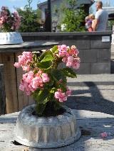 Mustankorkean ideoima Kierrätyspuutarha tuunaa puutarhadesignia vanhasta.