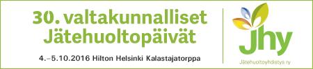 30. valtakunnalliset Jätehuoltopäivät 4.-5.10.2016