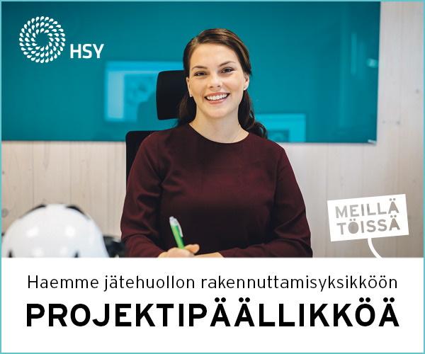 Projektipäällikkö HSY haku
