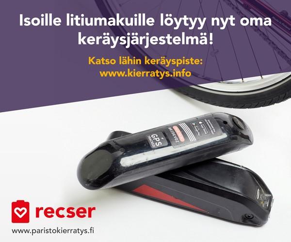 Recser litiumakkujen keräysjärjestelmä