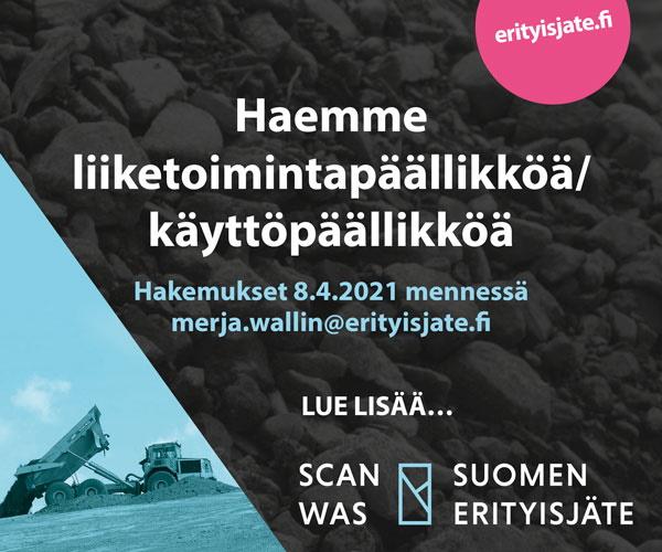Suomen Erityisjäte hakee liiketoimintapäällikköä