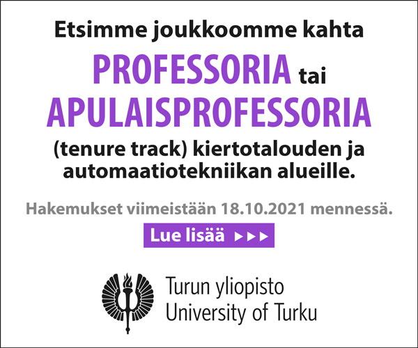 Turun yliopisto hakee kahta professoria
