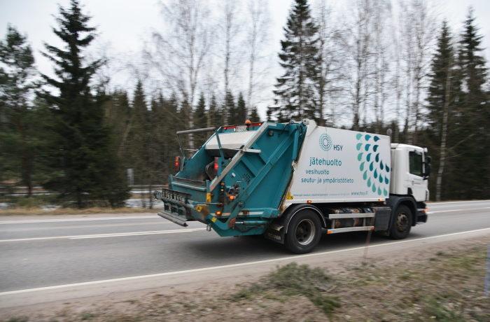 HSY:n jätteenkuljetuspakkari