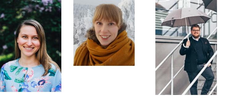 Maria Jäppinen, Tiina Karppinen ja Juha Ripatti