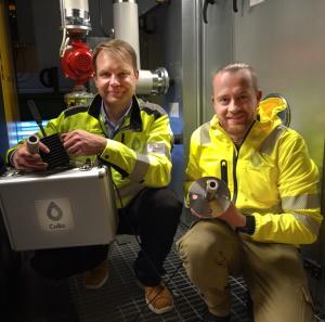 Head of Sales Mikko & CEO Matti with Collo by Setareh Zakeri