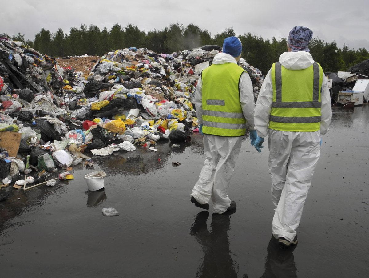 Kylmä ja sateinen kesä suosi jätteiden lajittelututkimustyötä, koska roskat eivät haisseet yhtä pahasti kuin lämpimällä säällä.